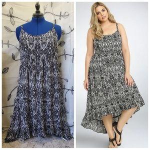 Torrid - Geo Print Hi-low Maxi Dress.